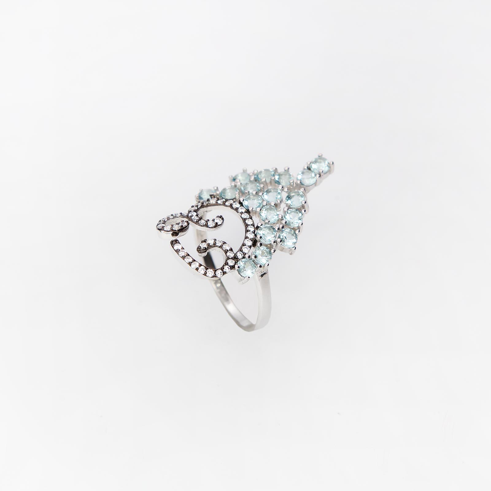Серебряное кольцо «Мазурка»