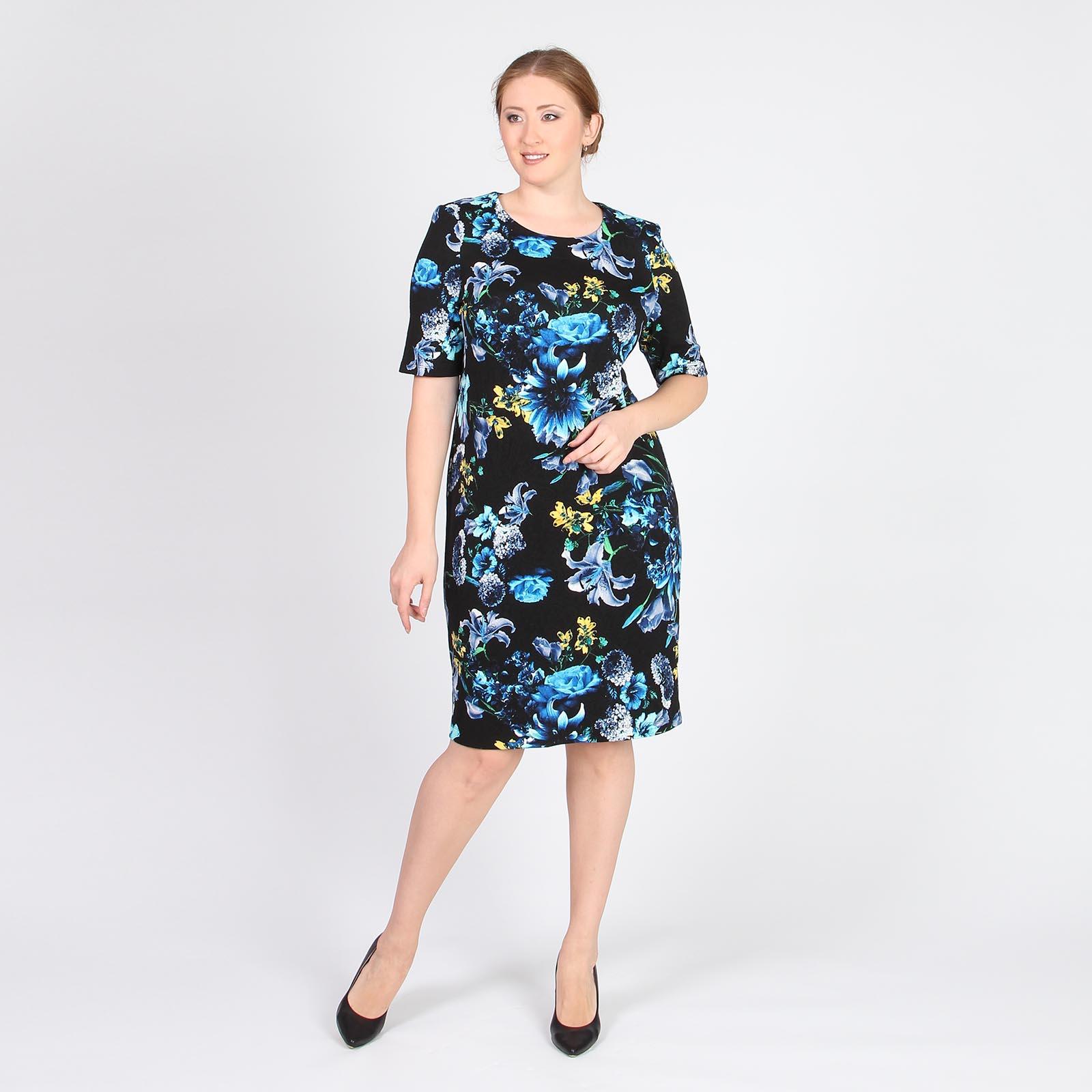 Платье с принтом «Цветы»