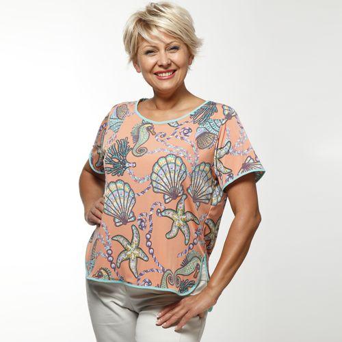 Блуза с коротким рукавом и ультрамодным принтом