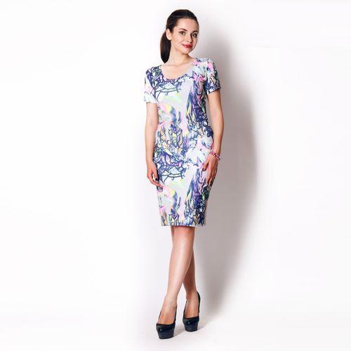 Модное платье с ярким цветочным принтом платье с цветочным принтом