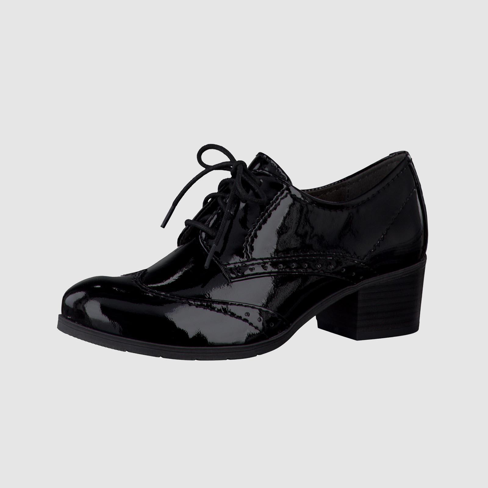 Ботинки женские лакированные на шнуровке