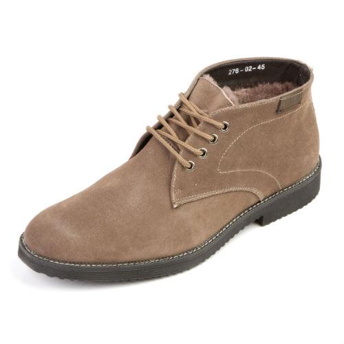 Комфортные мужские ботинки на шнуровке