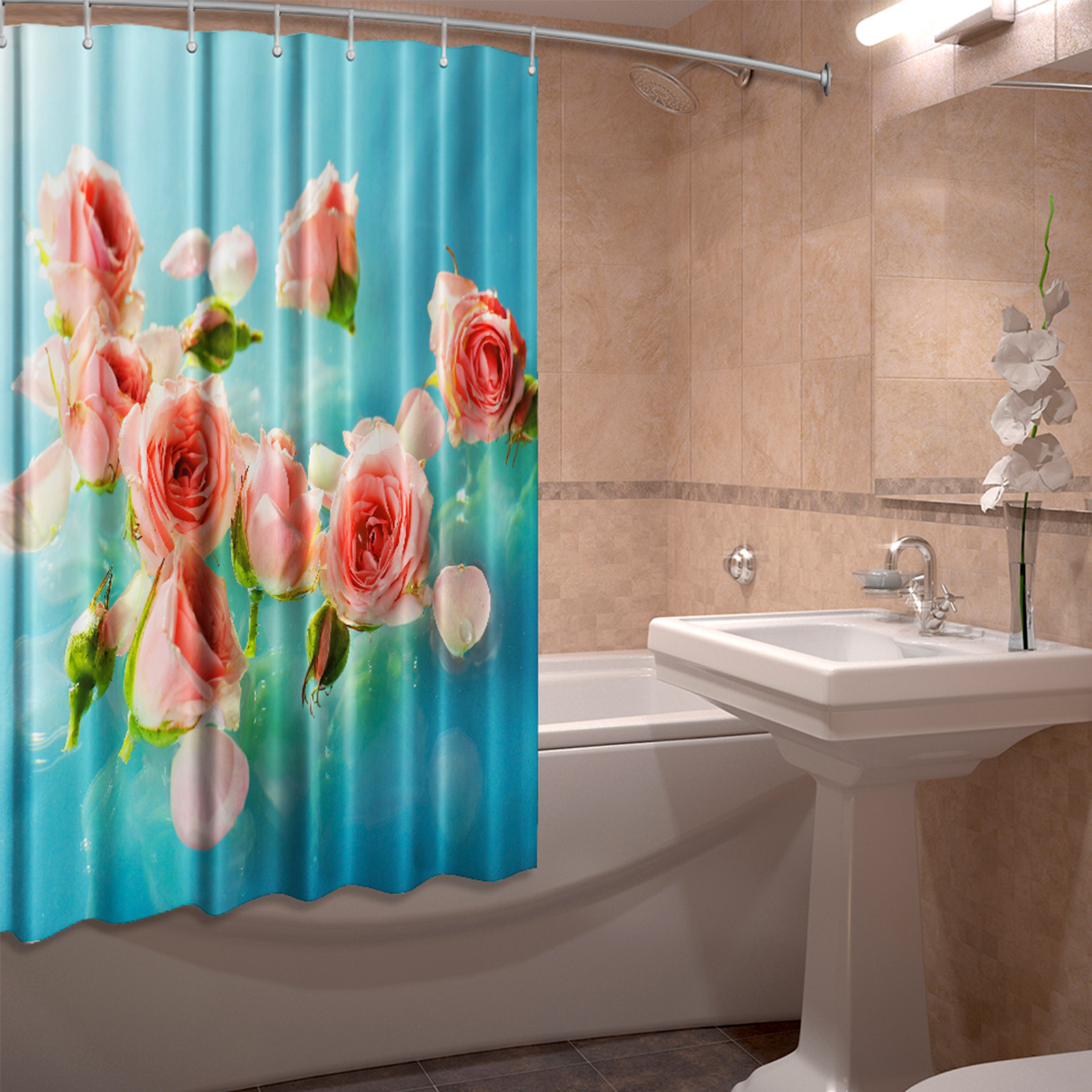 Штора для ванной комнаты «Глорис»