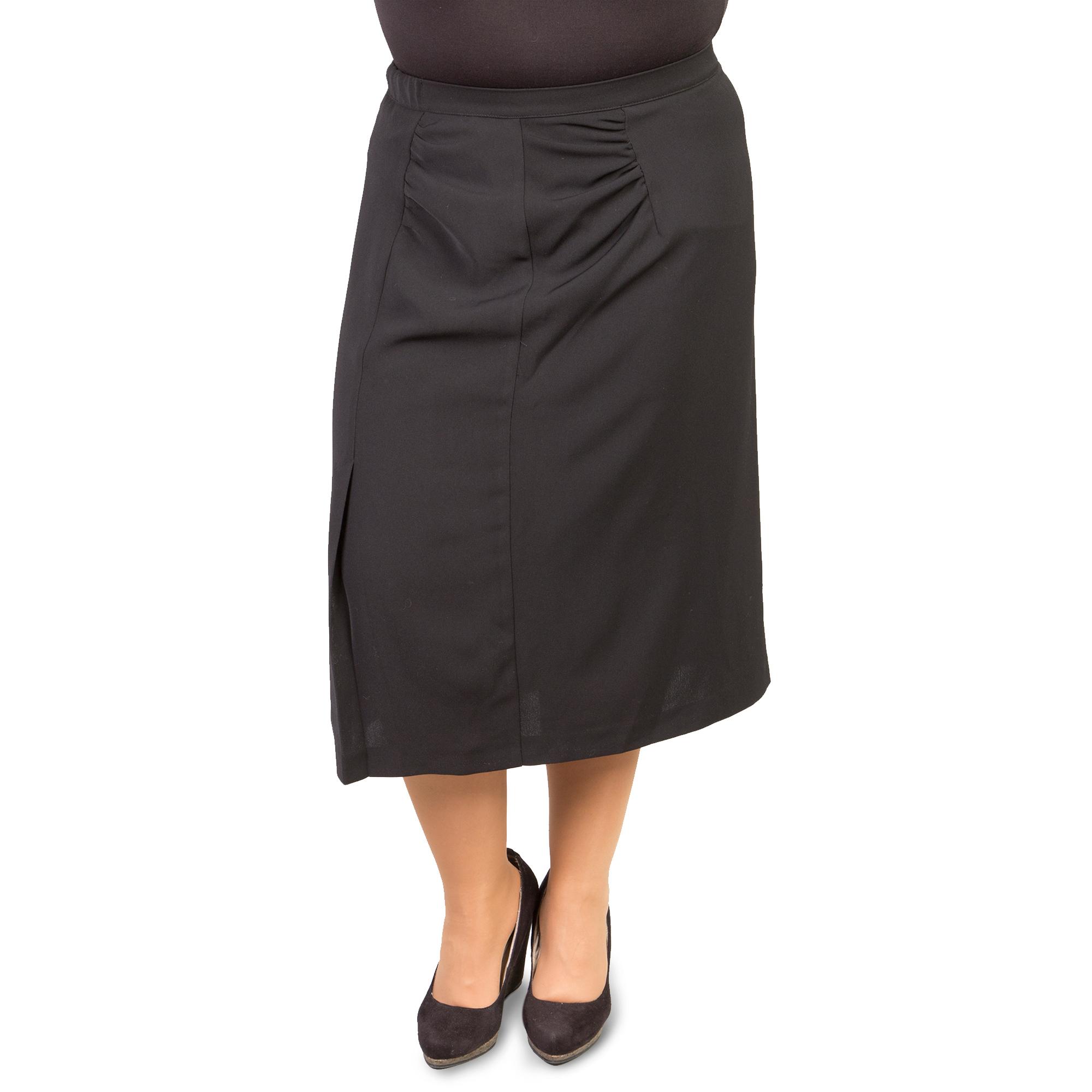 Длинная юбка прямого покроя на резинке