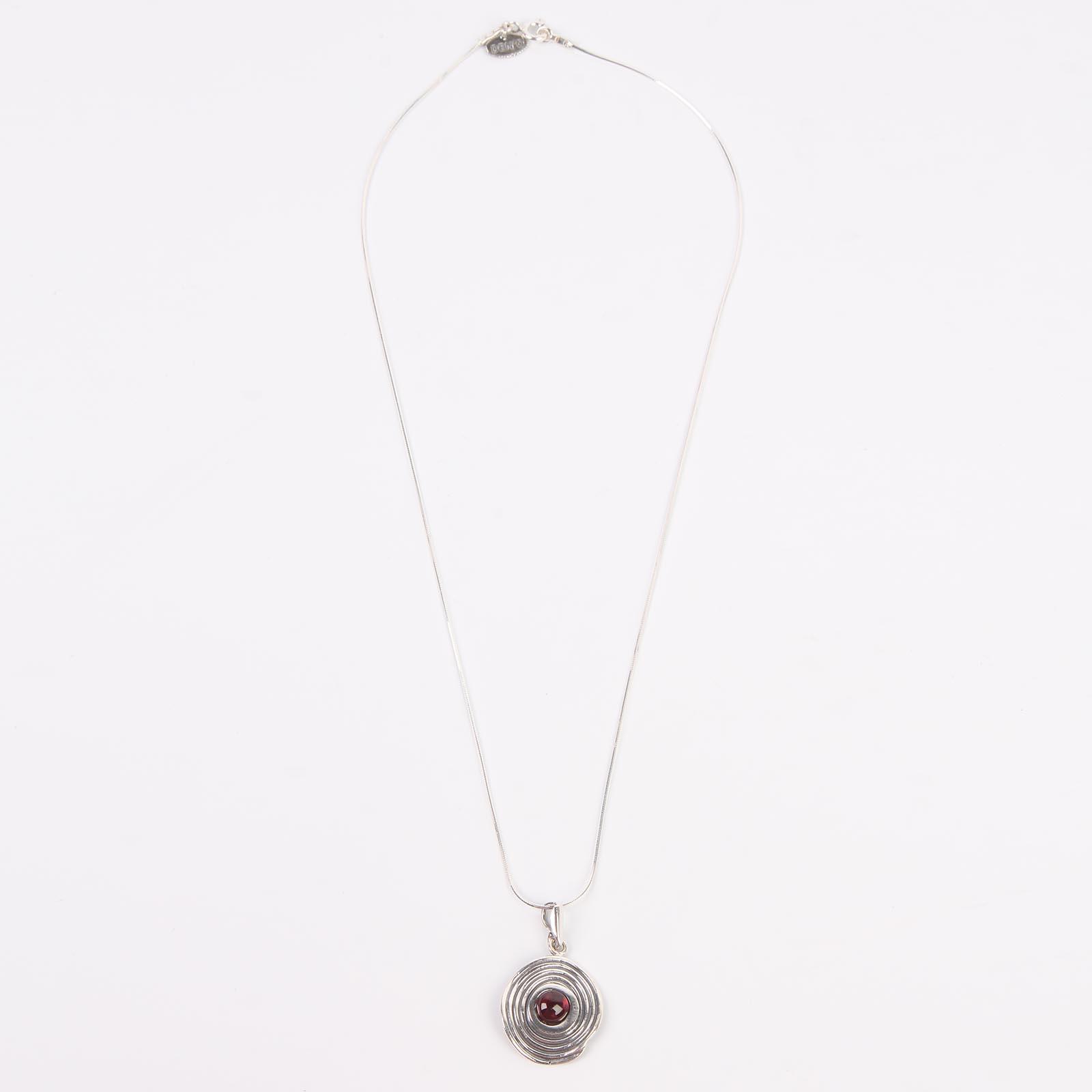Серебряное колье «Гранатовый Сатурн»