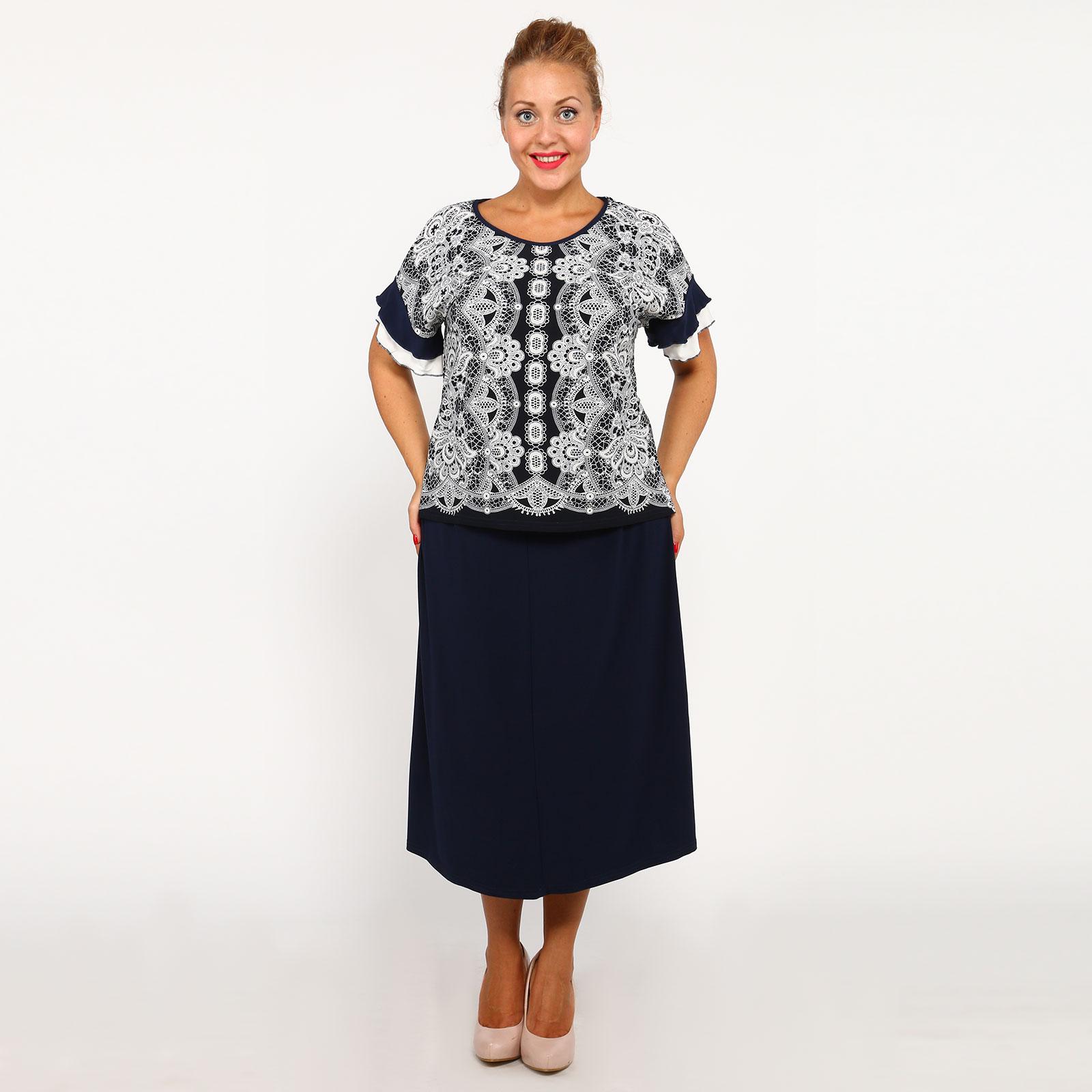 Костюм: блуза ажурная и юбка на резинке