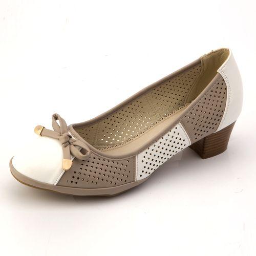 Туфли с перфорацией и бантиком