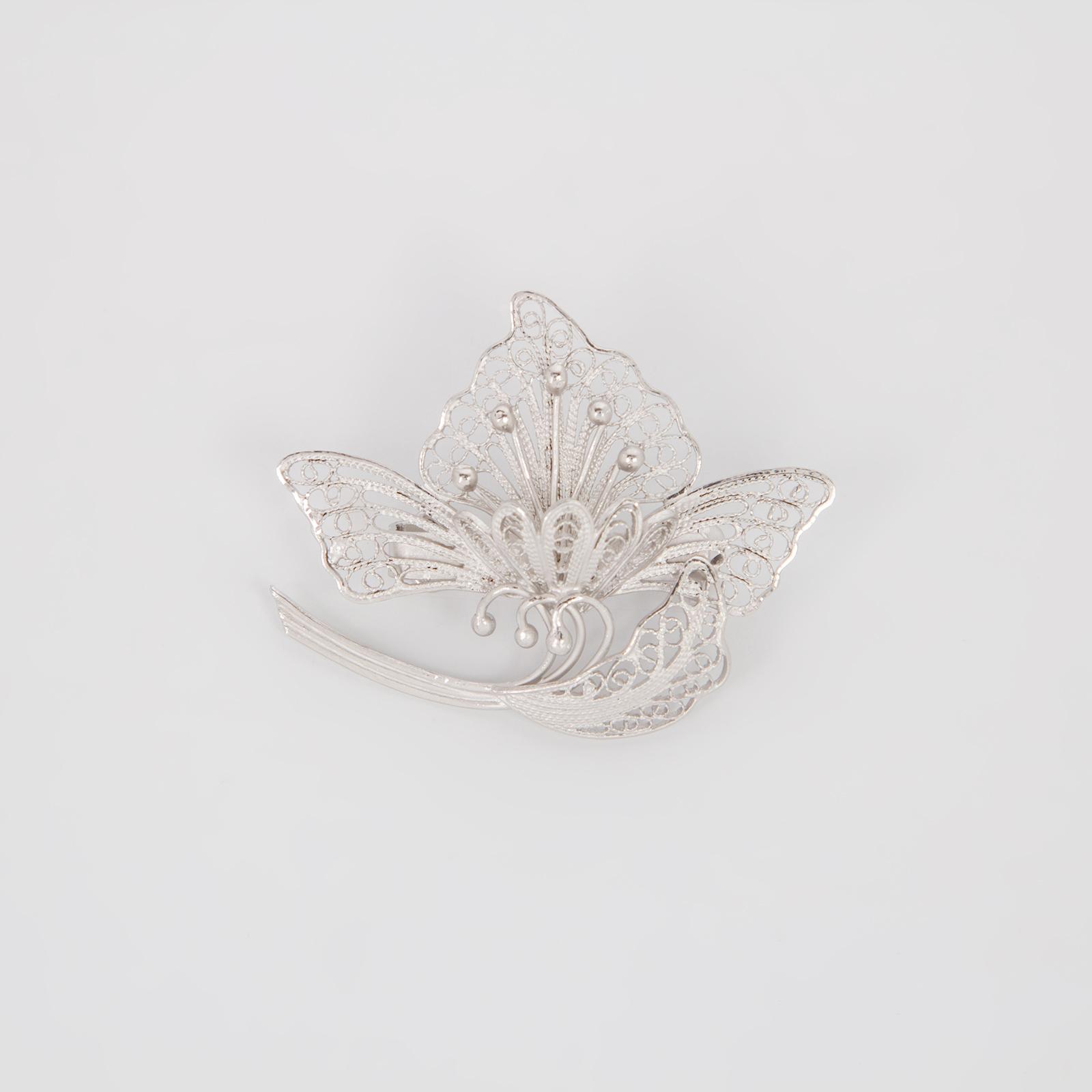 Серебряная брошь «Императорский стиль»