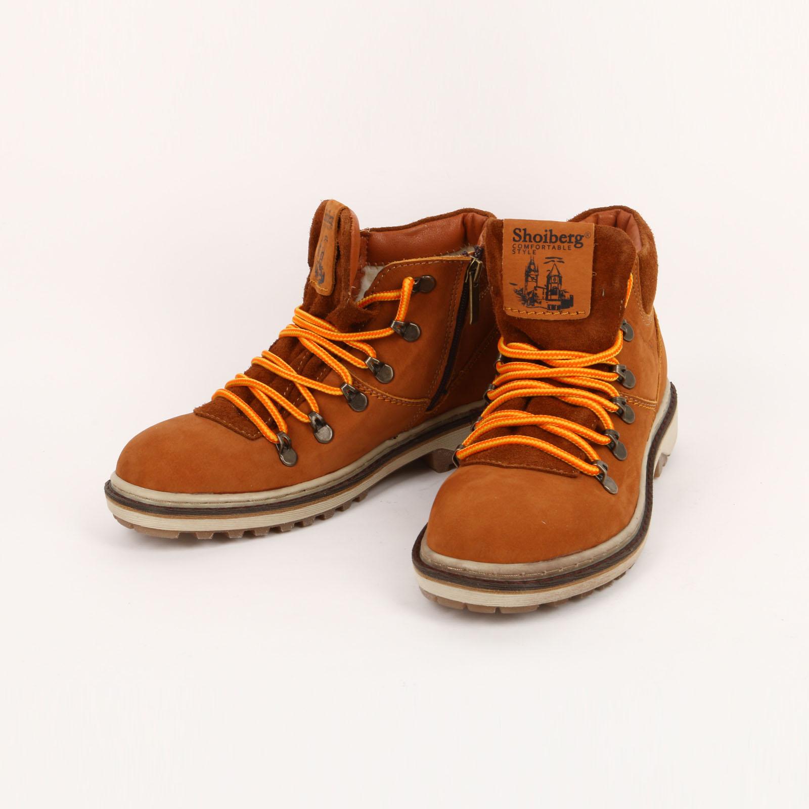 Высокие женские ботинки на составной подошве обувь shoiberg