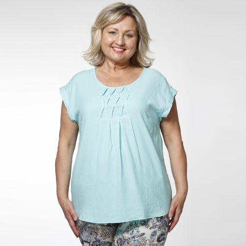 Блуза с декоративными защипами