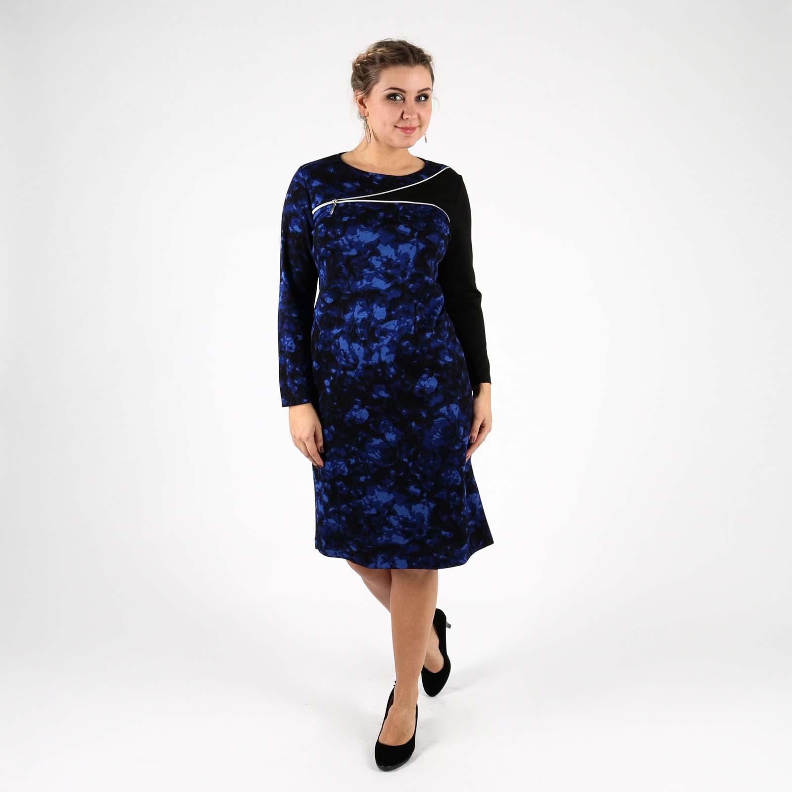 Платье-футляр с декоративной молнией