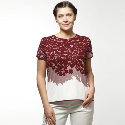 Блуза с коротким рукавом и ярким узором