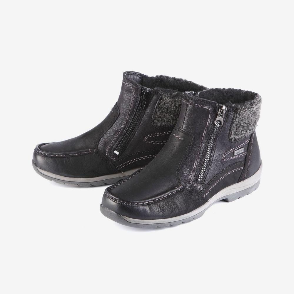 Ботинки женские на утолщенной подошве и молнии