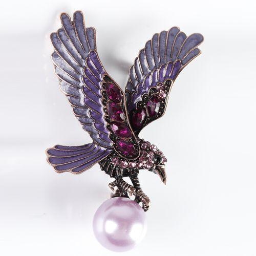 Брошь «Пурпурный феникс»