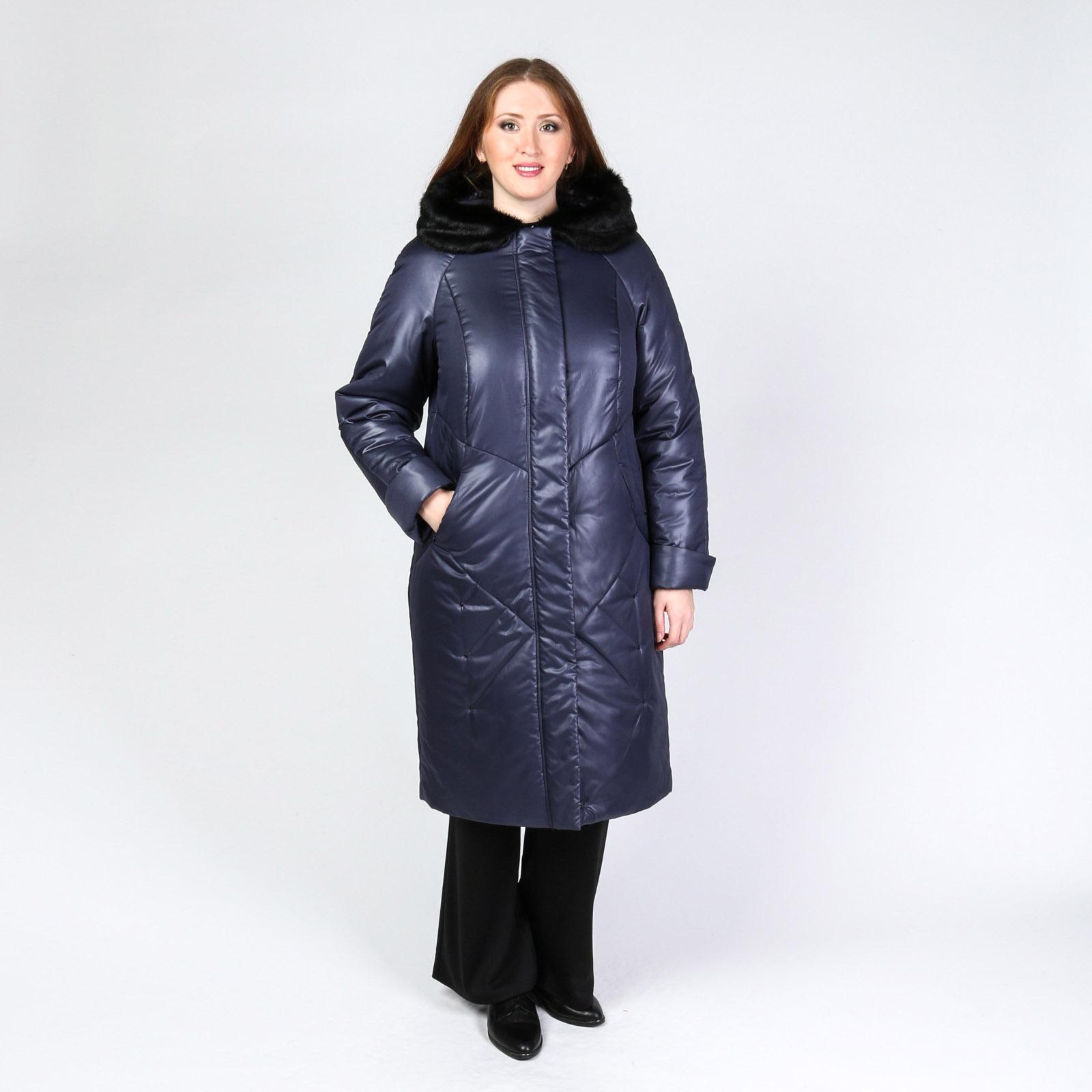 Пальто стеганое средней длины
