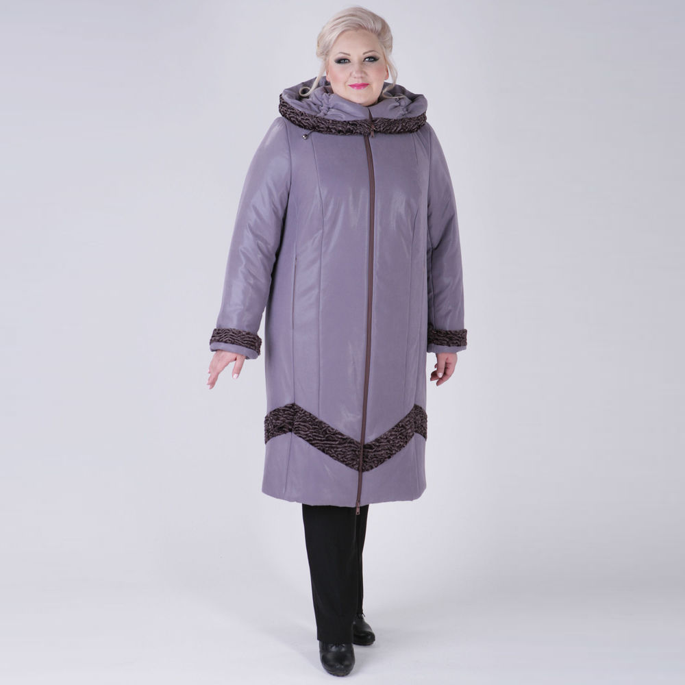 Пальто на молнии с отложным капюшоном