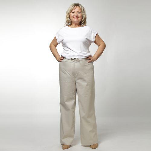 Льняные брюки на кулиске