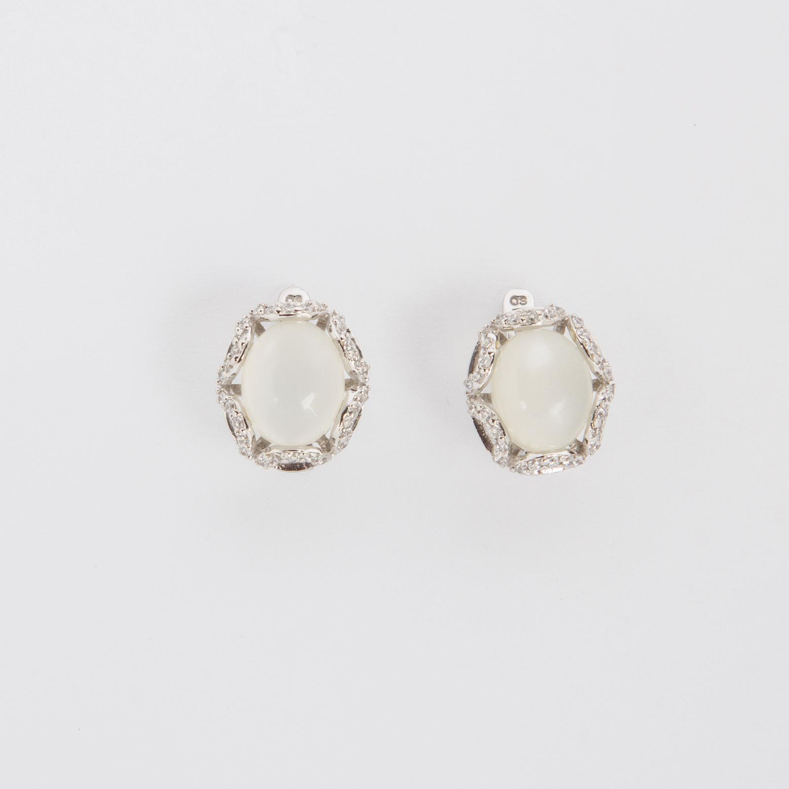 Серебряные серьги «Сияние»