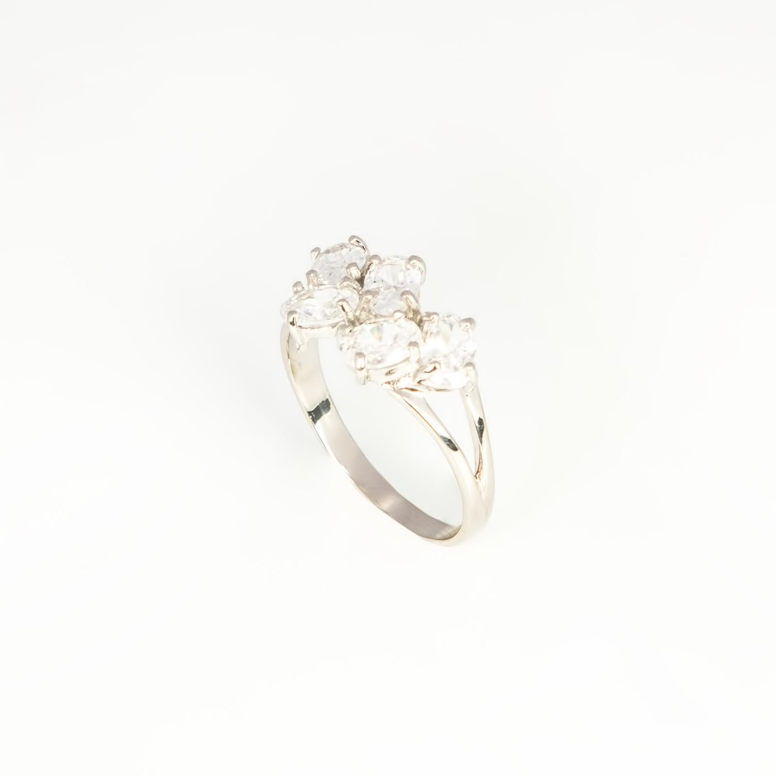 Серебряное кольцо «Весенняя капель»