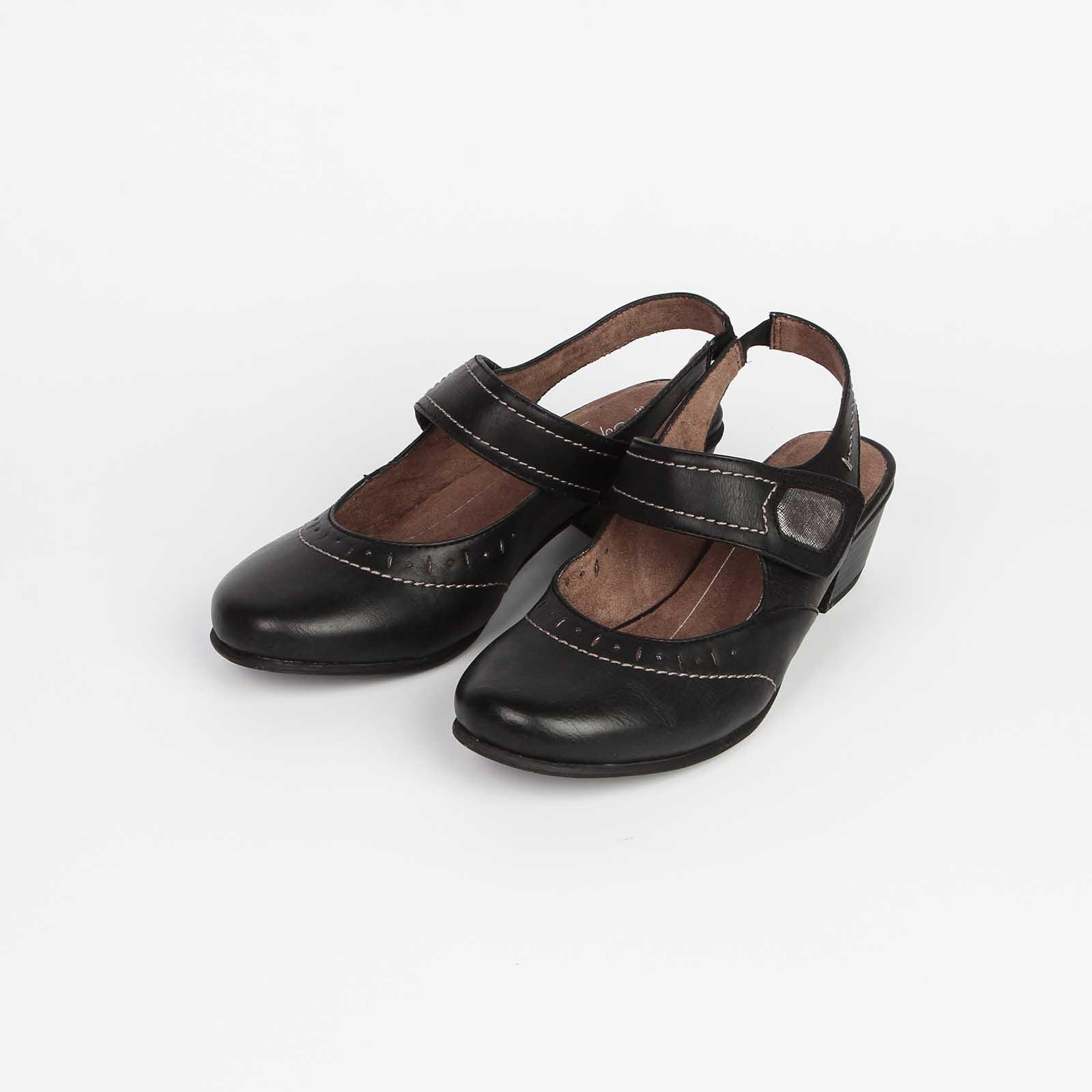 Туфли женские с эластичным ремешком и ремешком с застежкой