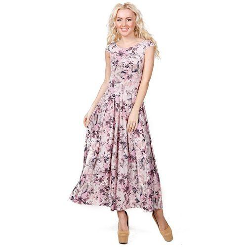 Платье-макси с нежным цветочным принтом платье с цветочным принтом