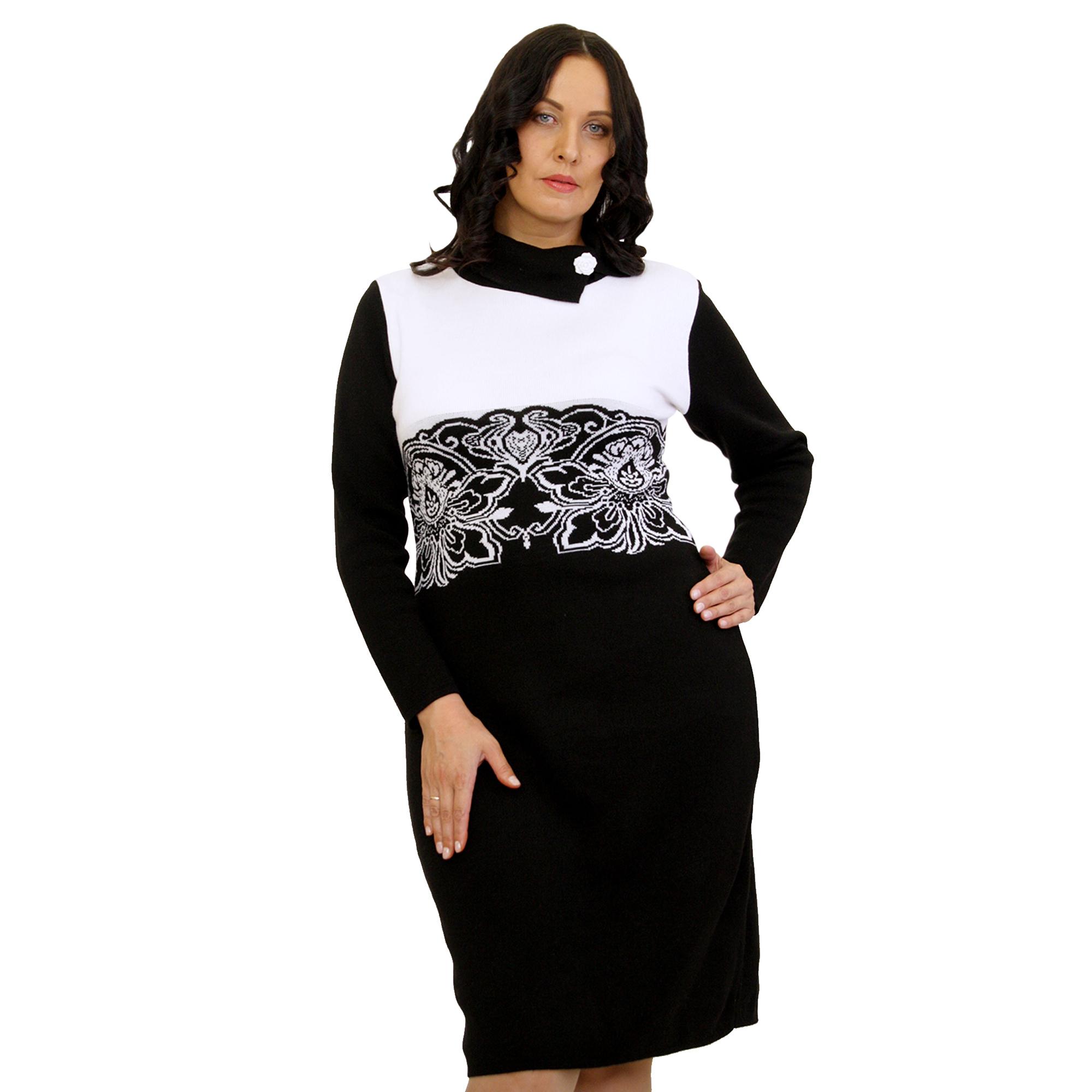 Вязаное платье с узором