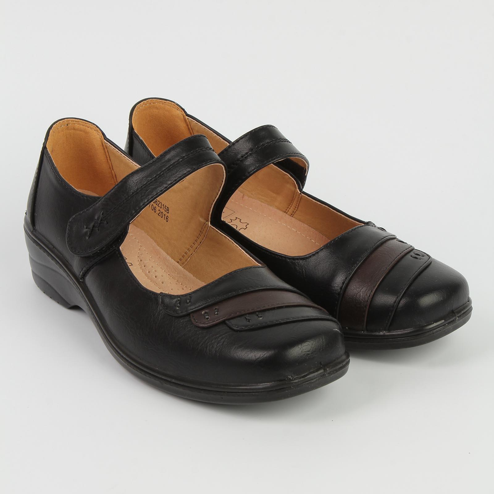 Туфли женские на липучке с декоративными вставками