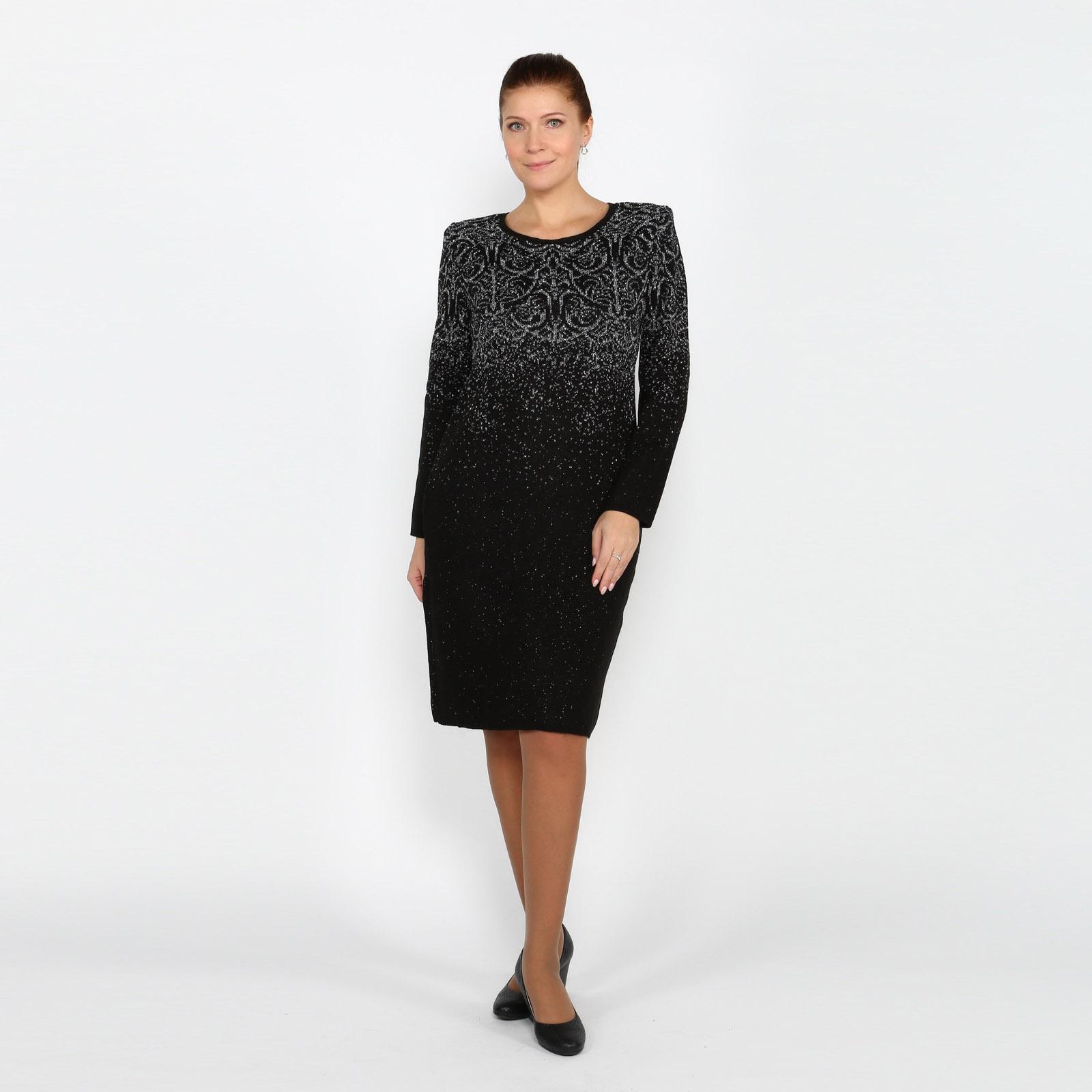 Платье-миди с оригинальным узором