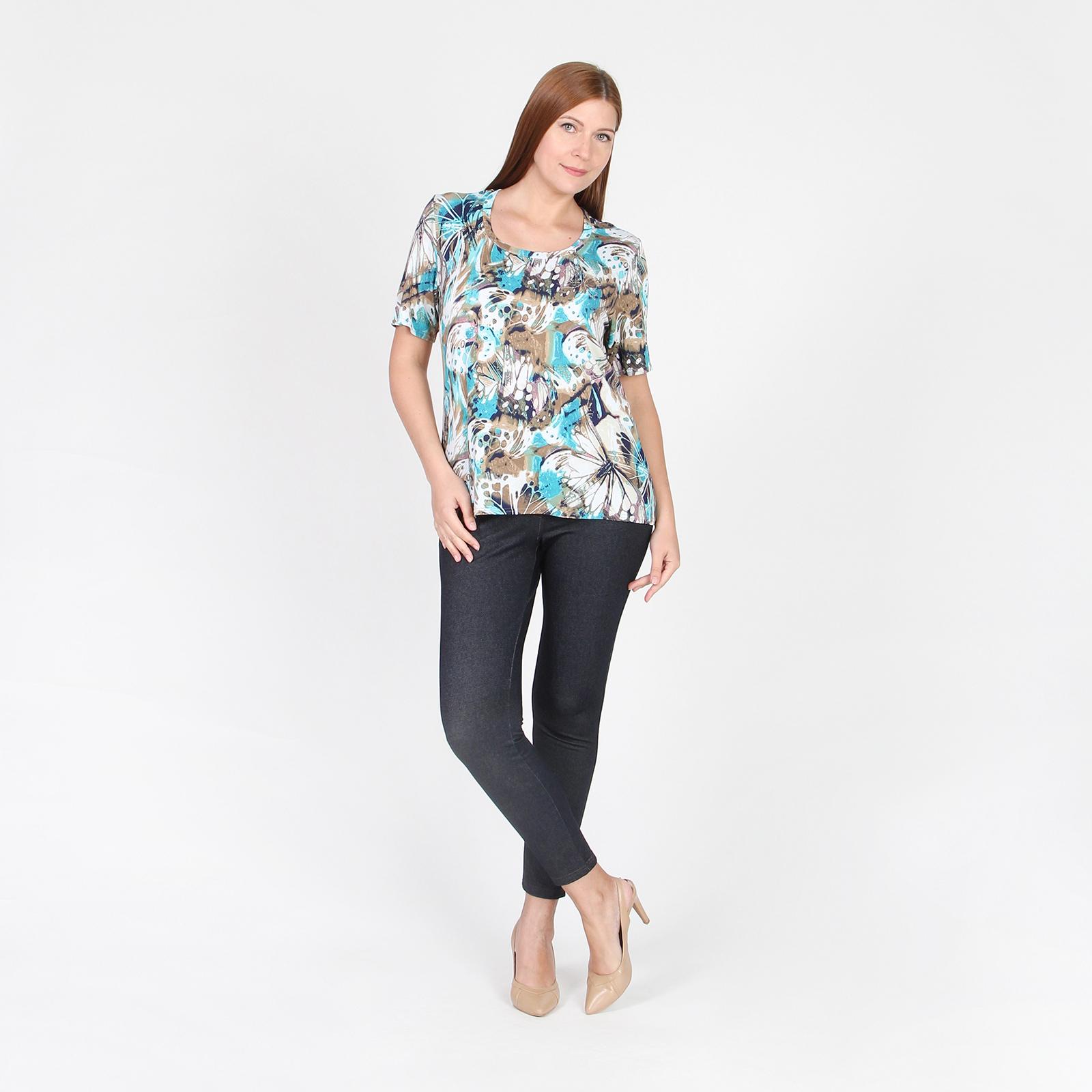 Блуза с коротким рукавом и стразами