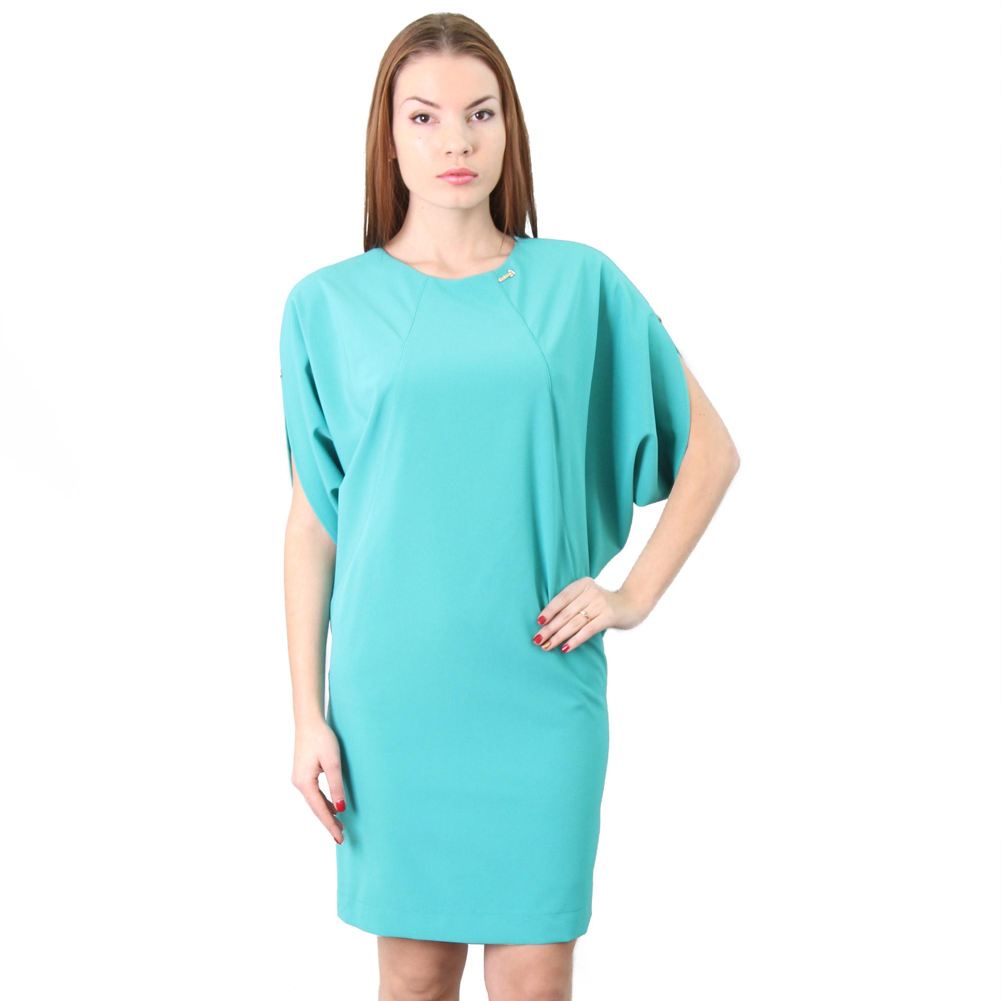 Платье с рукавами «летучая мышь» на запонках