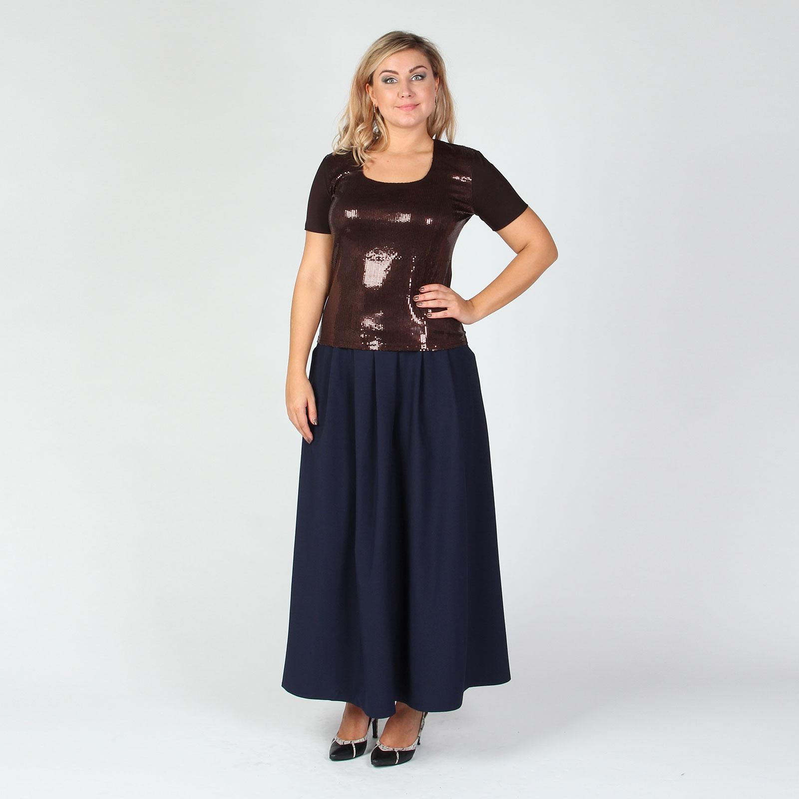 Блуза прямого кроя с пайетками