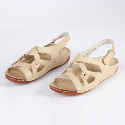 Женские сандалии на платформе с ремешками и строчкой