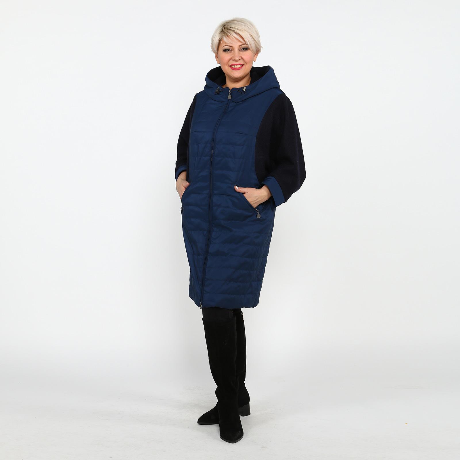 Пальто с шерстяными рукавами