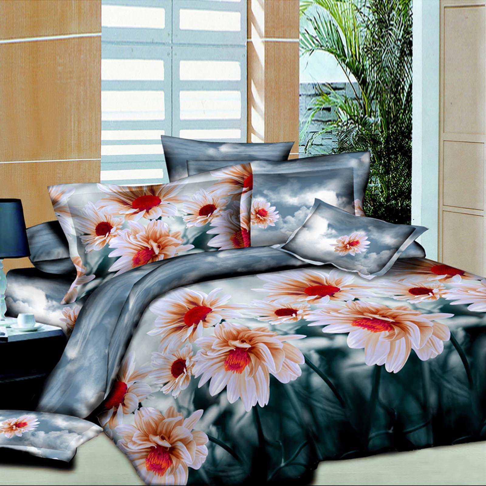 Комплект постельного белья «Цветочные облака»