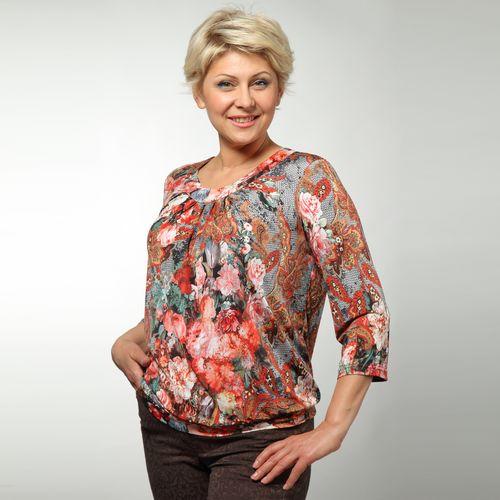 Блуза с рукавом 3/4 и сборками на груди