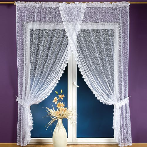 Комплект штор «Белый узор»