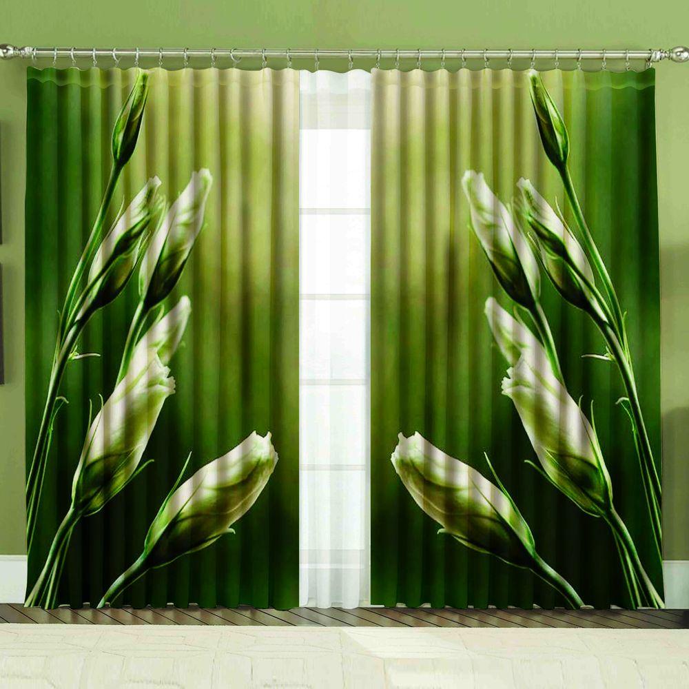 Комплект штор + тюль «Зелень»