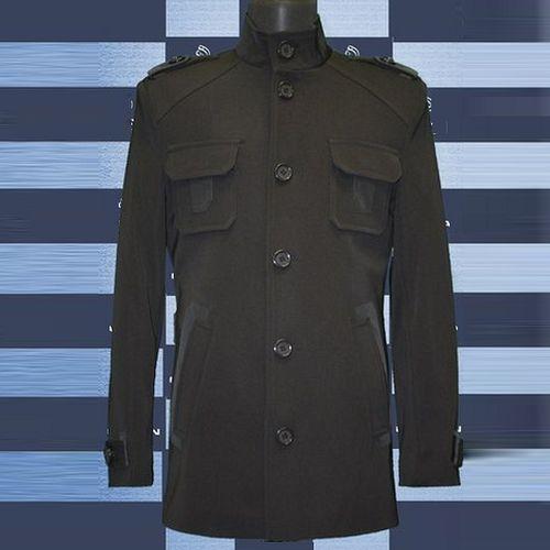 Мужское пальто со вставками пальто мужское кожаное в москве