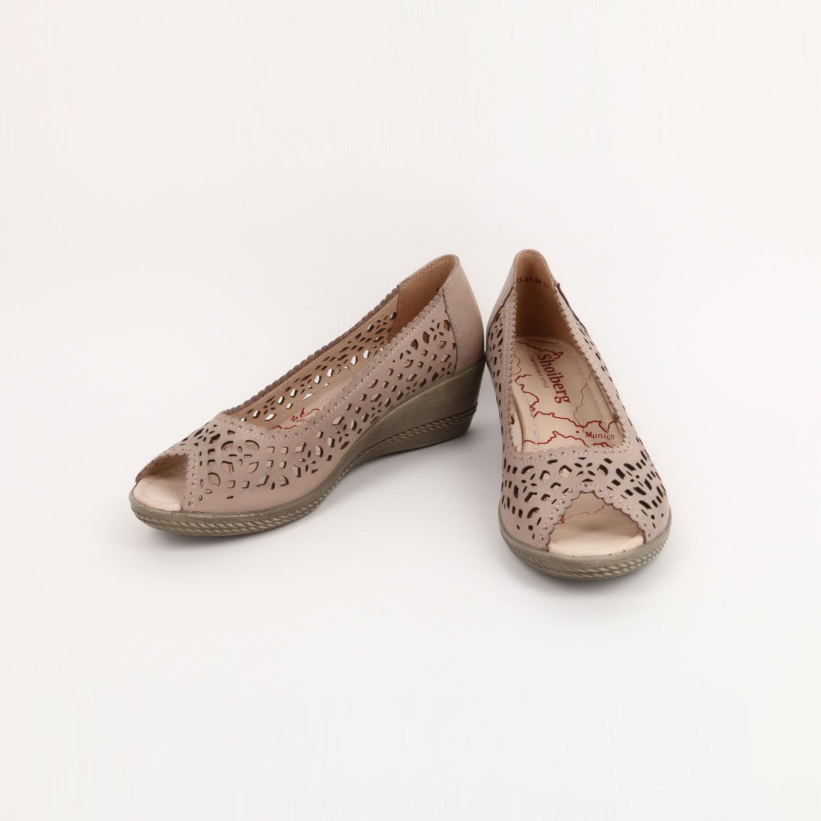 Туфли женские из кожи с перфорацией обувь shoiberg