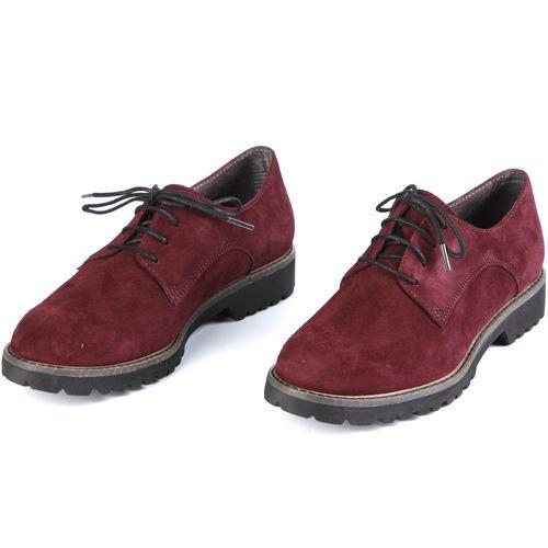 Ботинки женские из натурального велюра на шнуровке