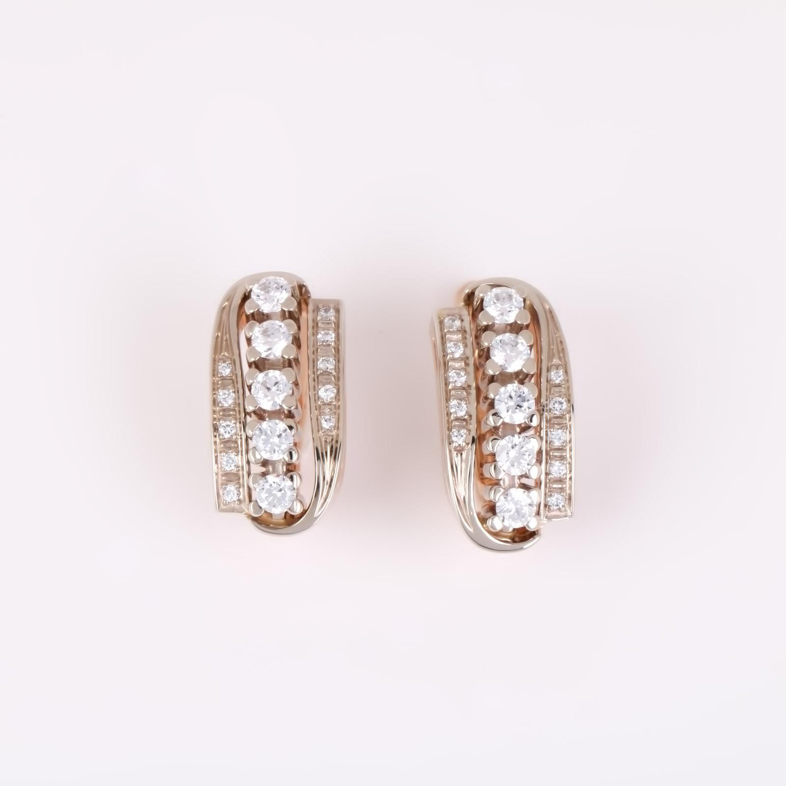Золотые серьги «Версаль»