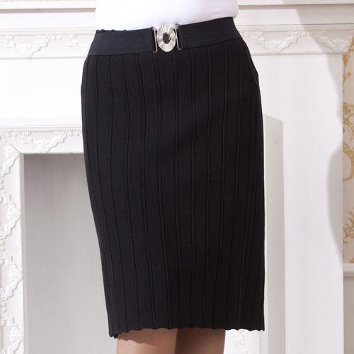 Прямая гофрированная юбка