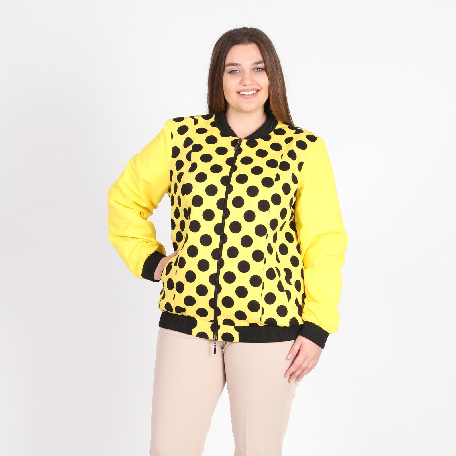 Куртка-бомбер на молнии с принтом «горох»