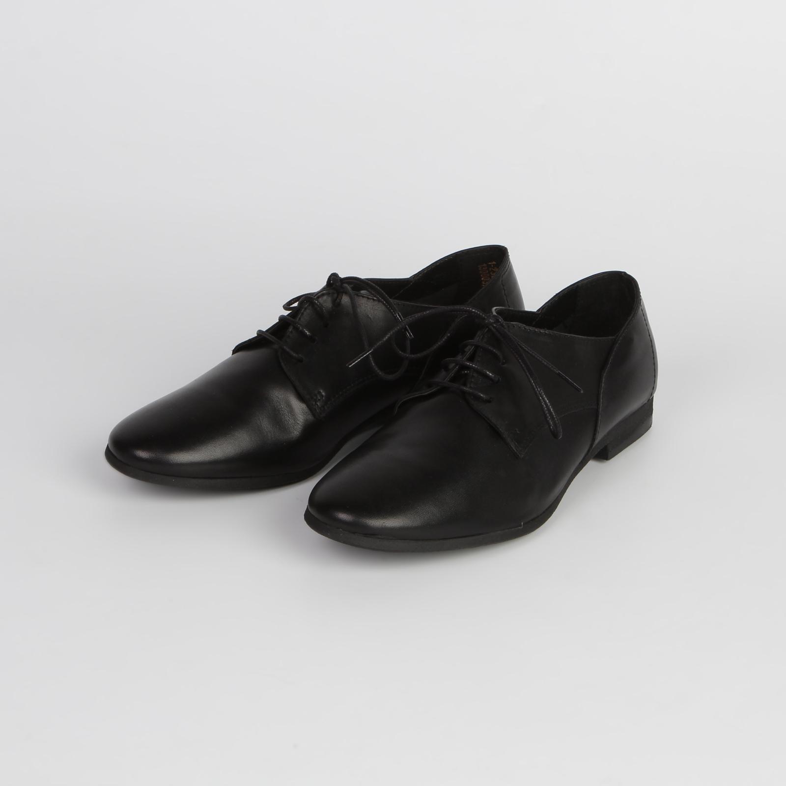 Женские ботинки из натуральной кожи с функциональной шнуровкой