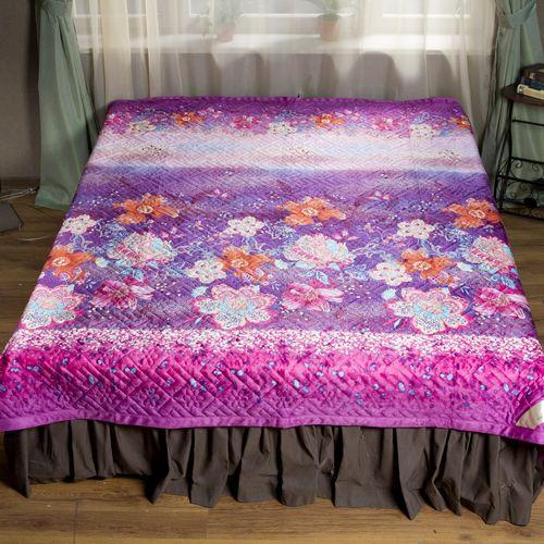 Покрывало-одеяло стеганое «Вальс цветов»