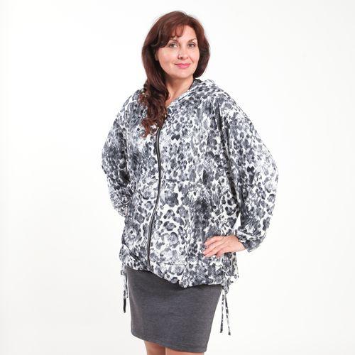 Ветровка на молнии с капюшоном и карманами
