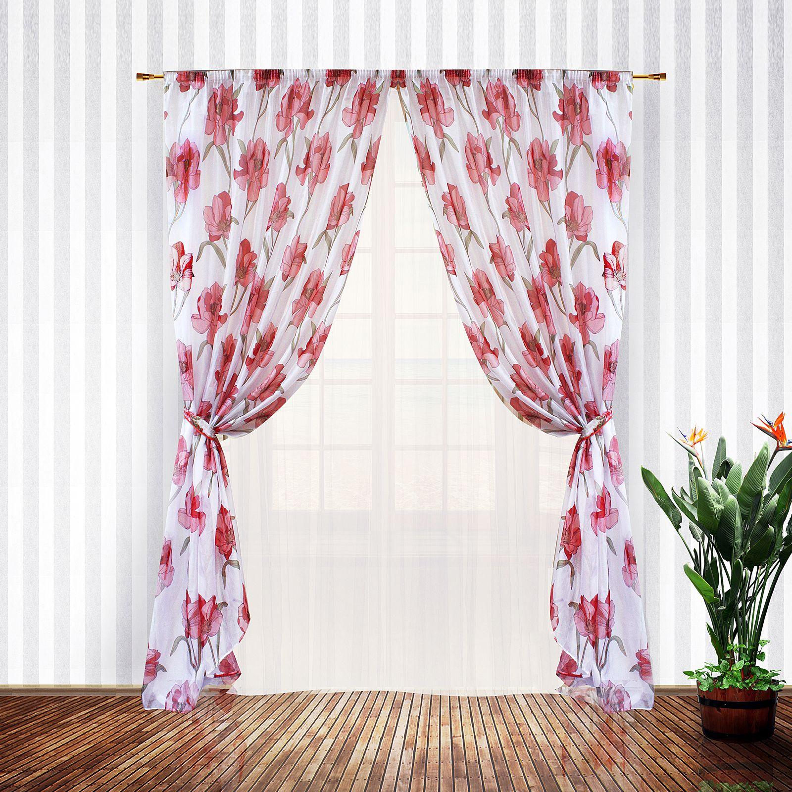 Комплект штор + тюль «Аленький цветочек»