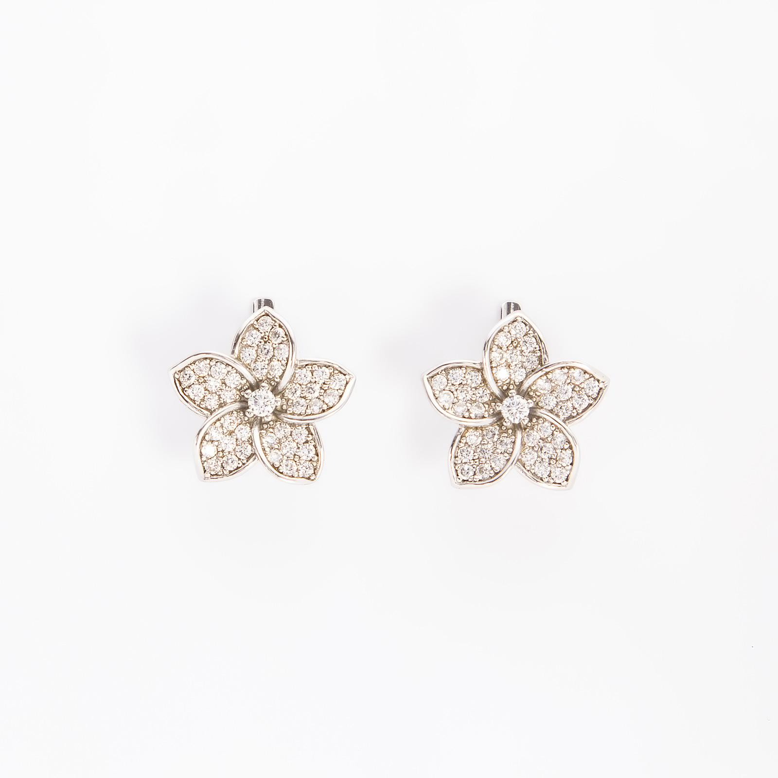 Серебряные серьги «Цветочная нежность»