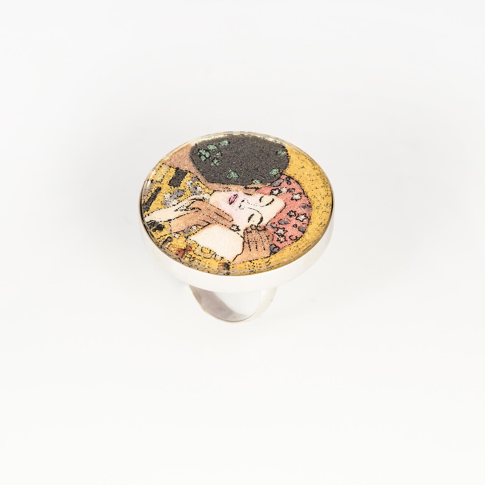Серебряное кольцо «Поцелуй»