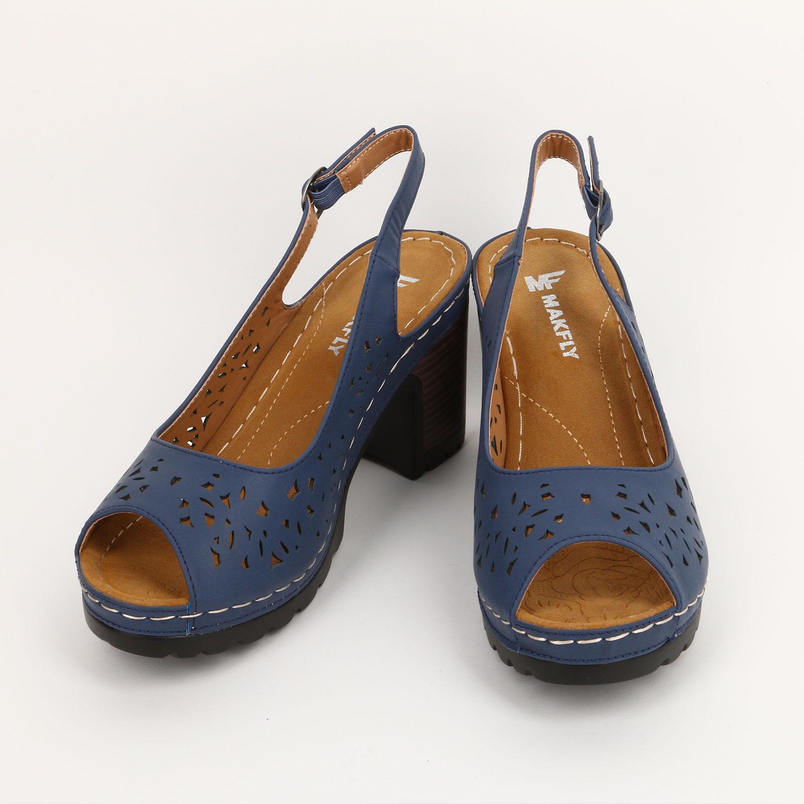Туфли на каблуке с перфорированным рисунком